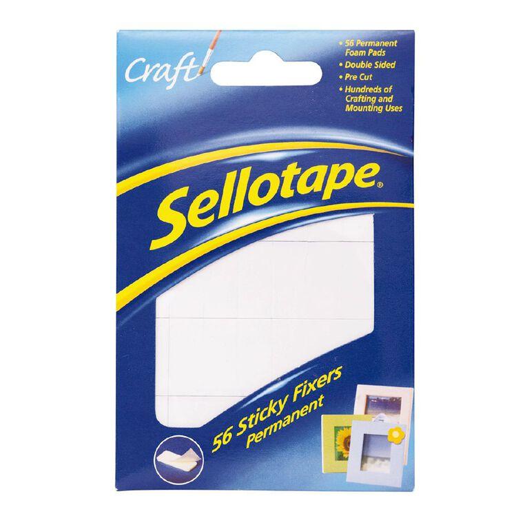 Sellotape Felt Sticky Fixer Pads 56 Pack White, , hi-res