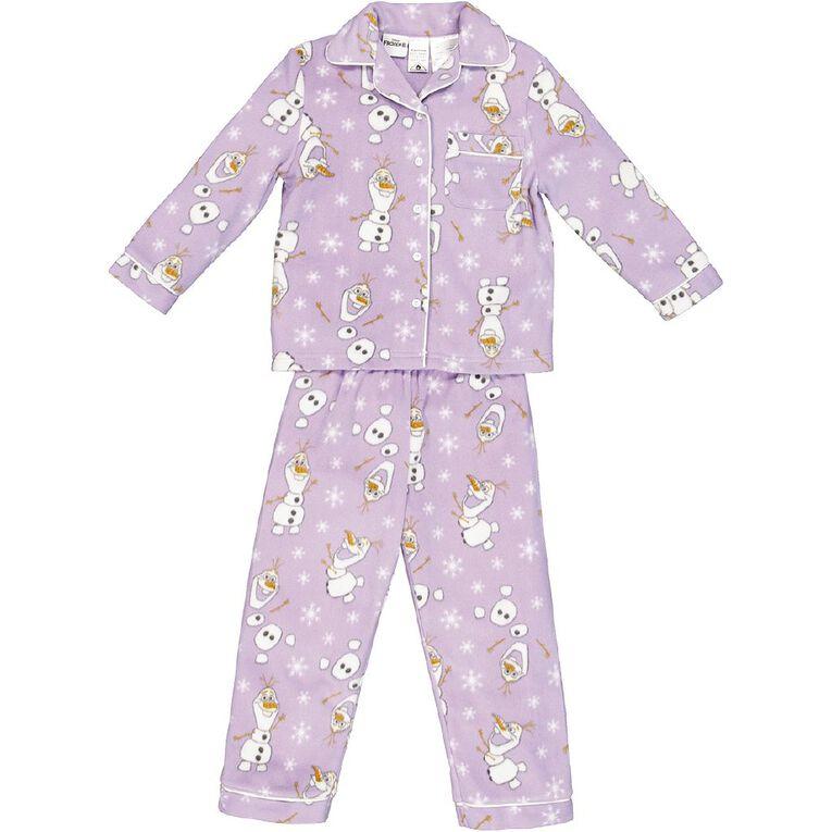 Frozen Disney Girls' Fleece Pyjamas, Lilac, hi-res