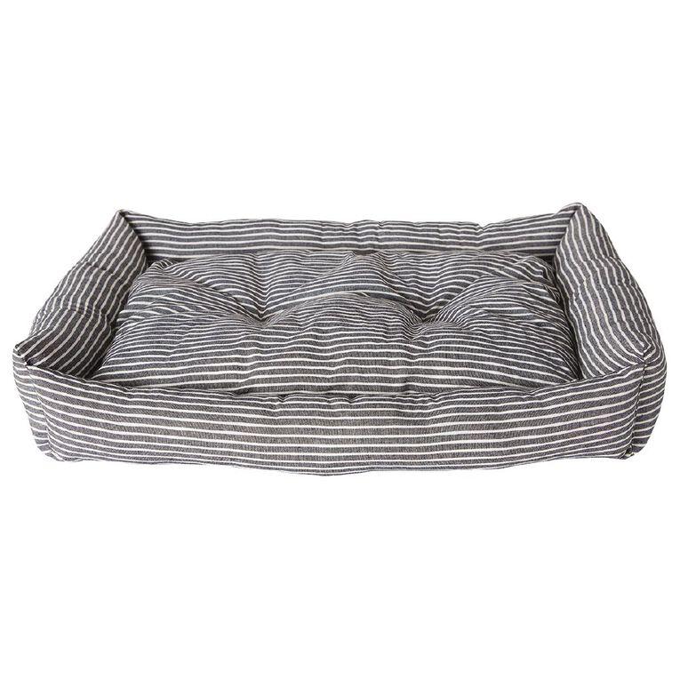 Petzone Rectangular Bed Dark Stripe, , hi-res