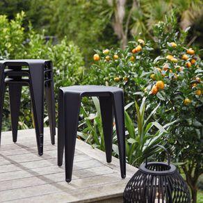 Living & Co Resin Stool /Table Black