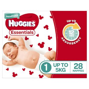 Huggies Essential Nappy Newborn 28 pack