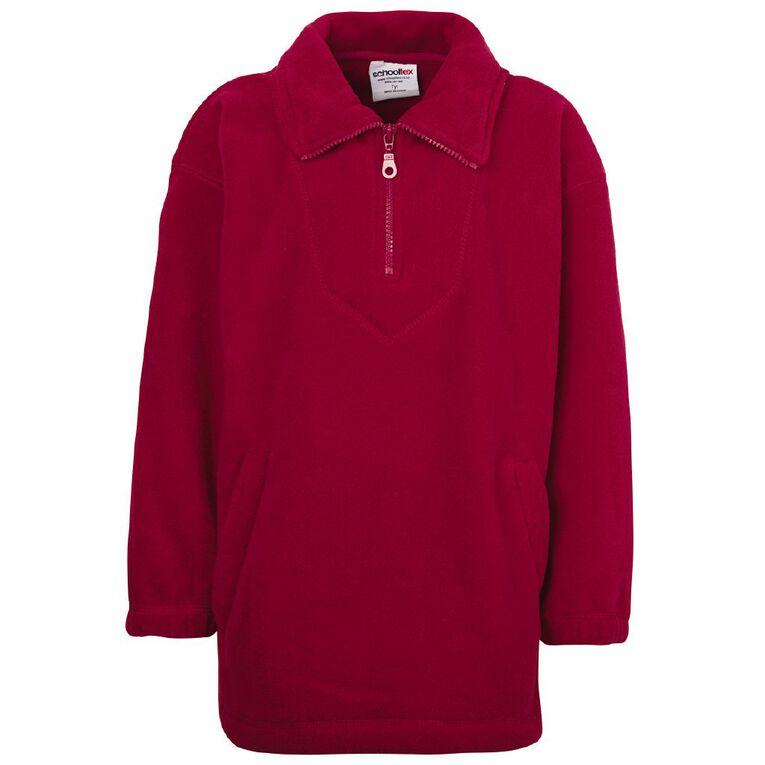 Schooltex Kids' Polar Fleece Top, Red, hi-res
