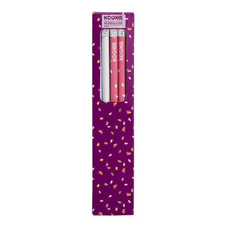 Kookie Bright Pencils 4 Pack Pink, , hi-res