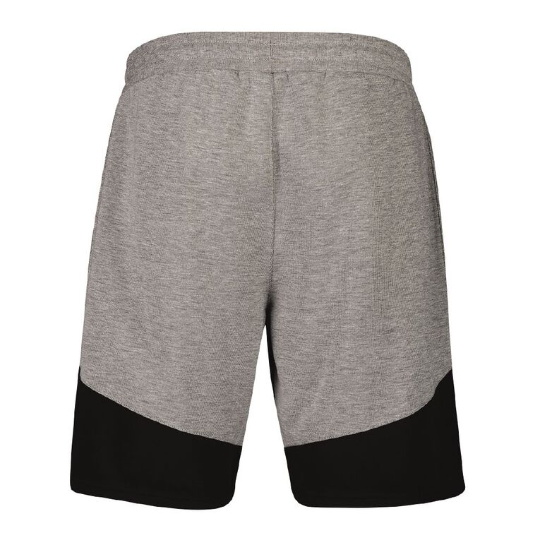 Active Intent Men's Splice Panel Shorts, Grey Marle, hi-res