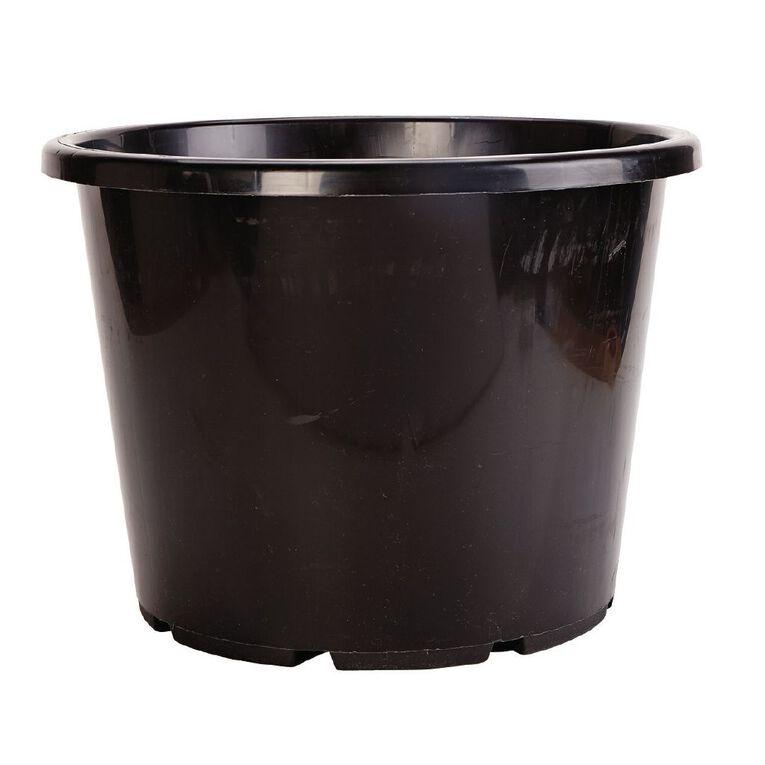 IP Plastics Resin Planter Pot 40cm Black 30L, , hi-res