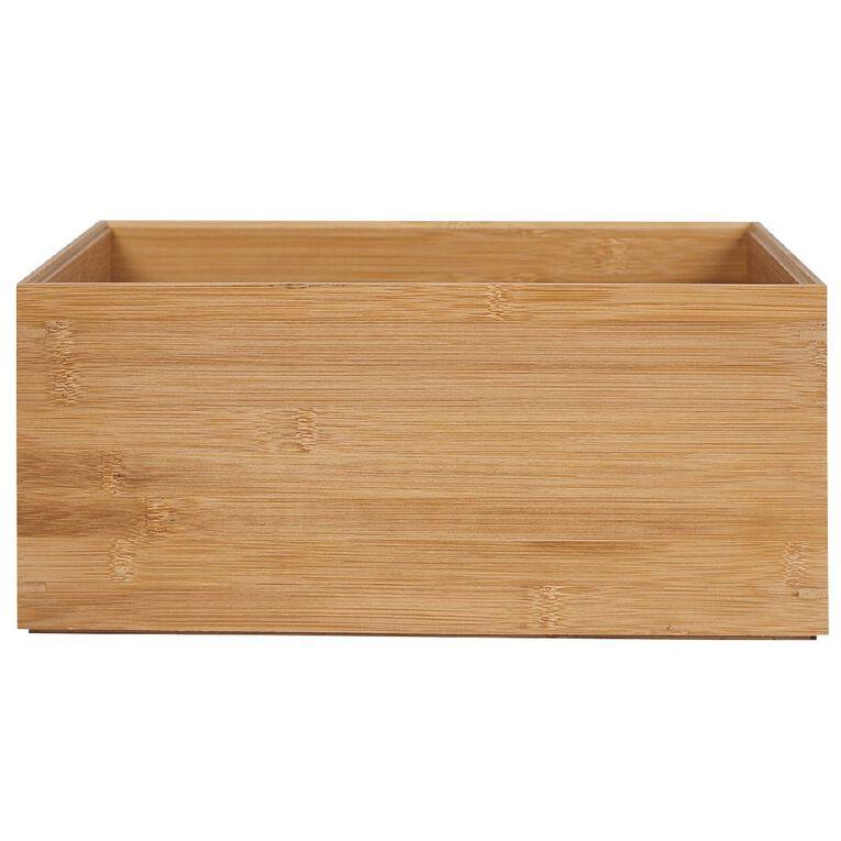 Living & Co Bamboo Storage Box Natural 15.4L, , hi-res