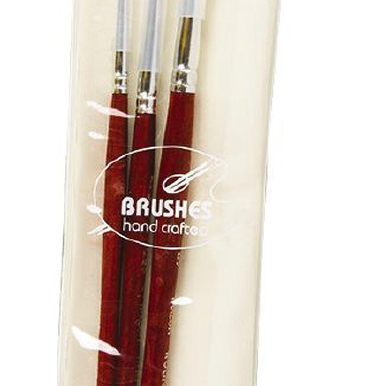 DAS Brush Set Das Synthetic Round 3 Pack Gold, , hi-res