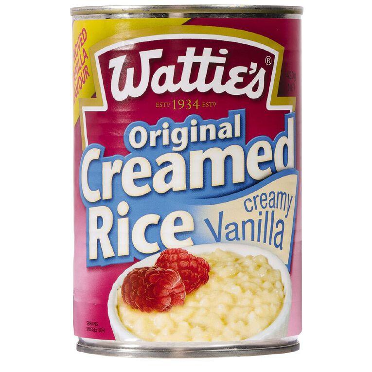 Wattie's Vanilla Creamed Rice 420g, , hi-res