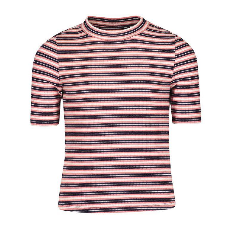 Young Original 3/4 Sleeve Rib Top, Pink Mid, hi-res