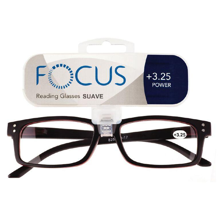 Focus Reading Glasses Men's Suave Power 3.25, , hi-res