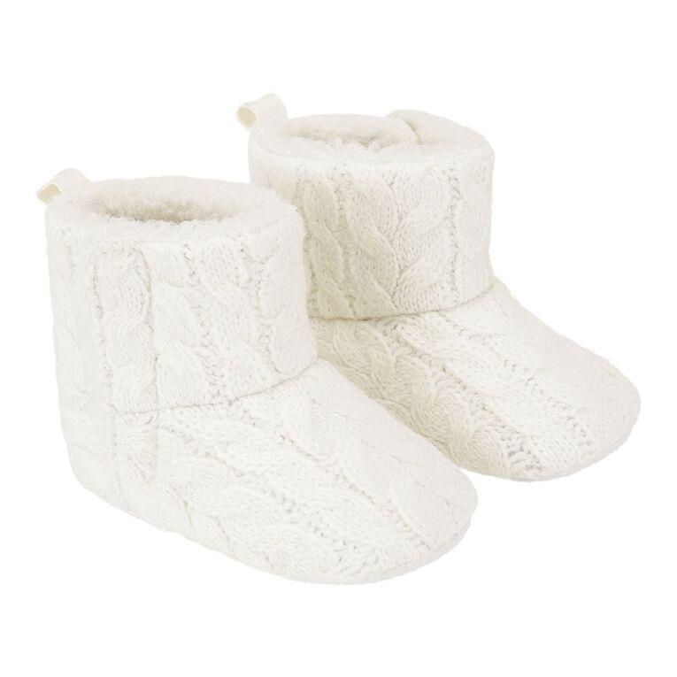 Young Original Infants' Cable Knit Shoes, Cream, hi-res
