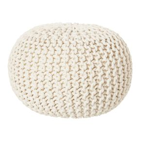 Living & Co Hand Knitted Pouf Cream