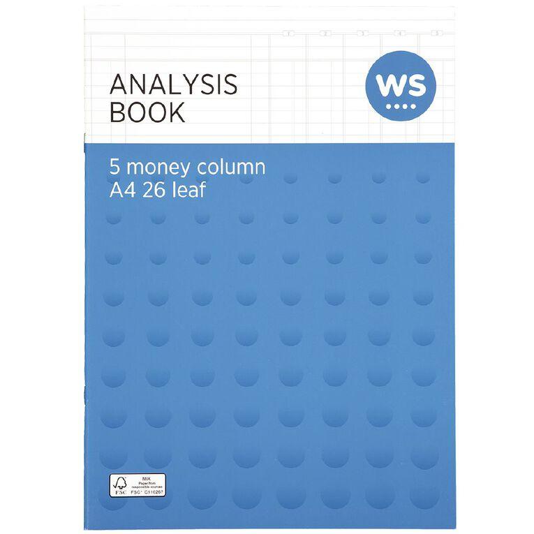 WS Analysis Book Limp 5 Column Green A4, , hi-res