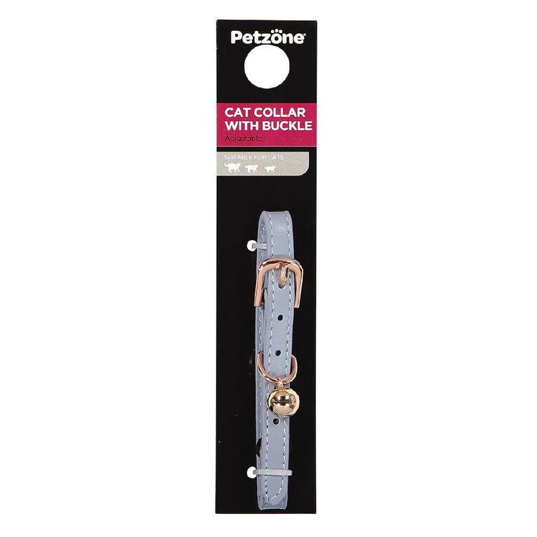 Petzone Leather Cat Collar Mint Adjustable 15-28cm, , hi-res