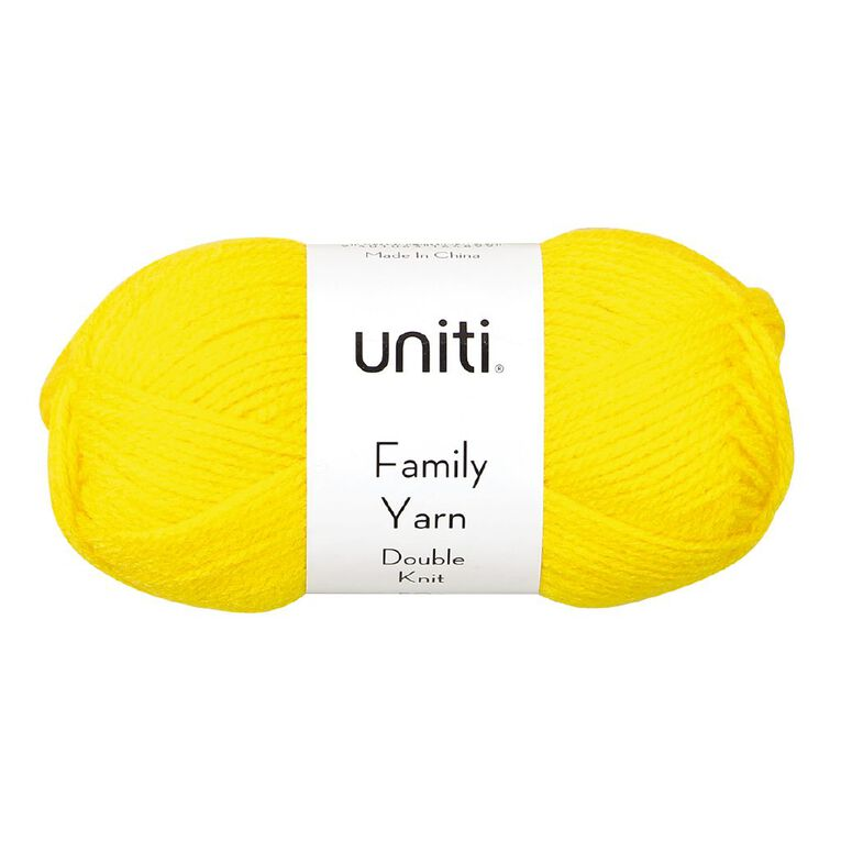Uniti Yarn Family Double Knit Yellow 50g, , hi-res