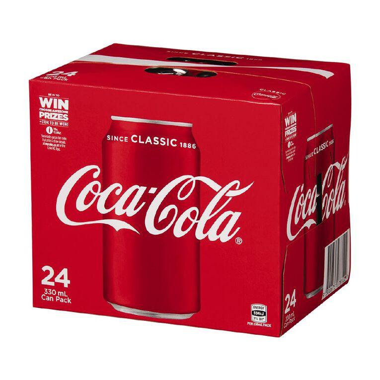 Coca Cola Soft Drink Cans 24x330ml, , hi-res