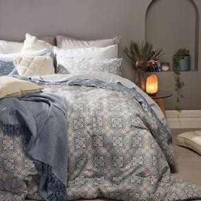 Living & Co Comforter Set 7 Piece Alexis Multi-Coloured Queen