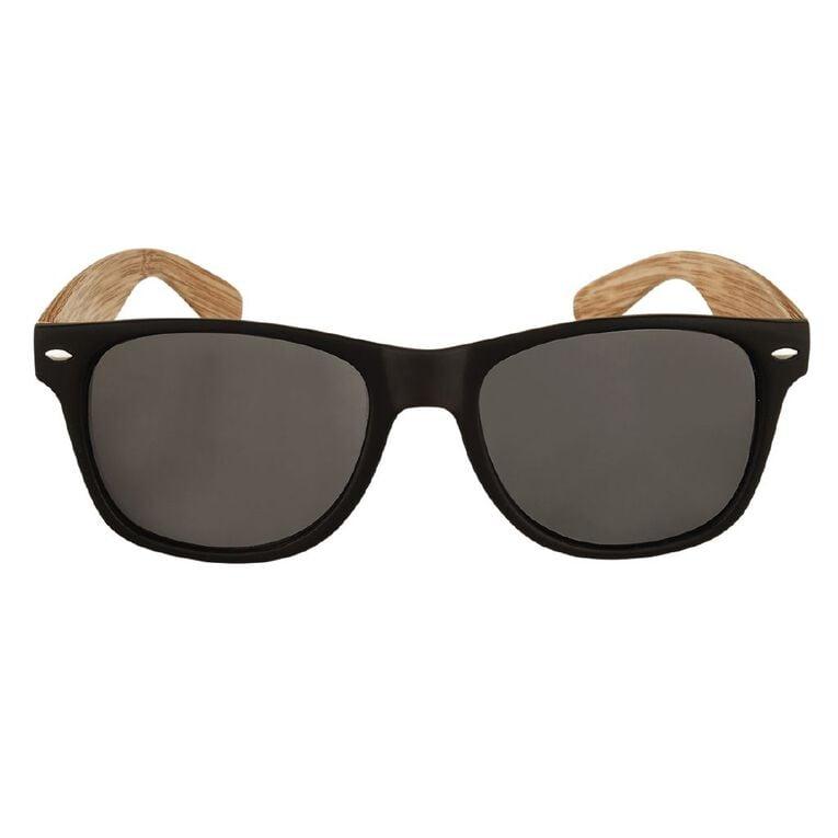 H&H Essentials Blonde Wood Floral Sunglasses, Gold, hi-res