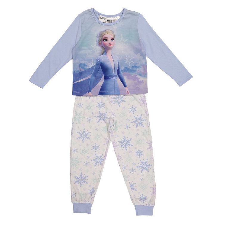 Frozen Disney Girls' Knit Pyjama, Blue, hi-res