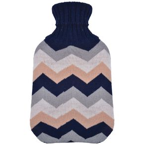 Living & Co Hot Water Bottle Cover Knitted Chevron