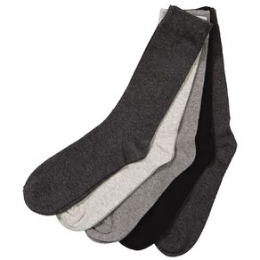 H&H Men's Plain Crew Socks 5 Pack