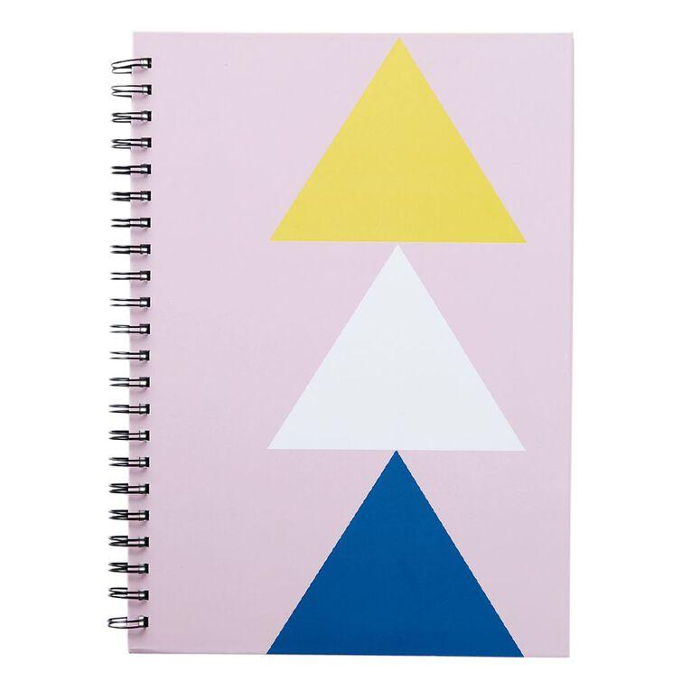 Uniti Geo Notebook Spiral Hardcover Pink Light A4, , hi-res