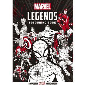 Marvel Legends Colouring Book