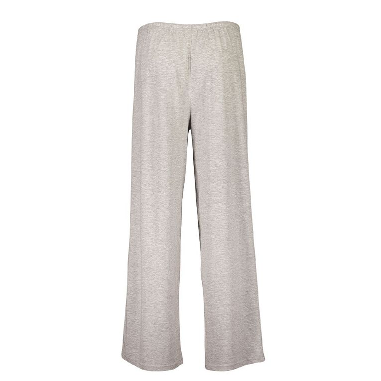 H&H Women's Knitted Plain Pyjama Pants, Grey, hi-res