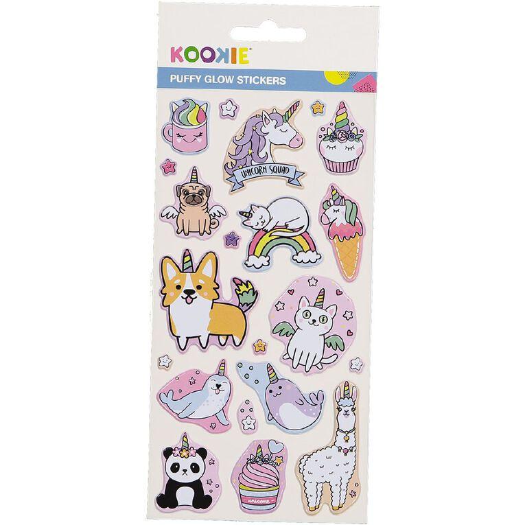 Kookie Sticker Sheet Puffy Glow in the Dark Assorted, , hi-res