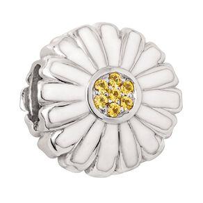 Ane Si Dora Sterling Silver White Daisy Flat Charm