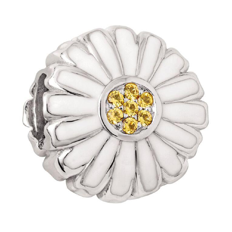 Ane Si Dora Sterling Silver White Daisy Flat Charm, , hi-res