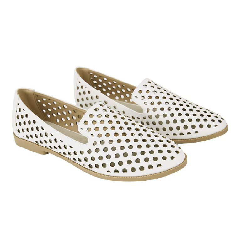 H&H Women's Bree Loafer Shoes, White, hi-res
