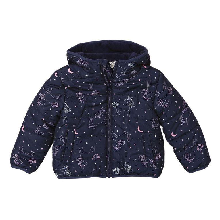 Young Original Toddler Lined Puffer Jacket, Blue Dark, hi-res