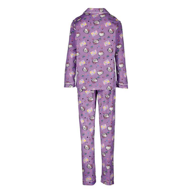 Hello Kitty Girls' Fleece Pyjama, Purple Mid, hi-res
