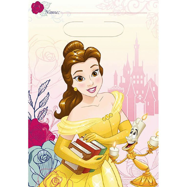 Disney Beauty and the Beast Loot Bags 8 Pack, , hi-res image number null