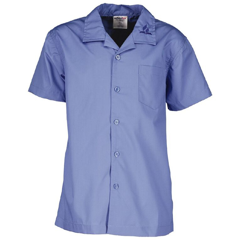 Schooltex SDA Short Sleeve Shirt with Embroidery, Balmoral Blue, hi-res