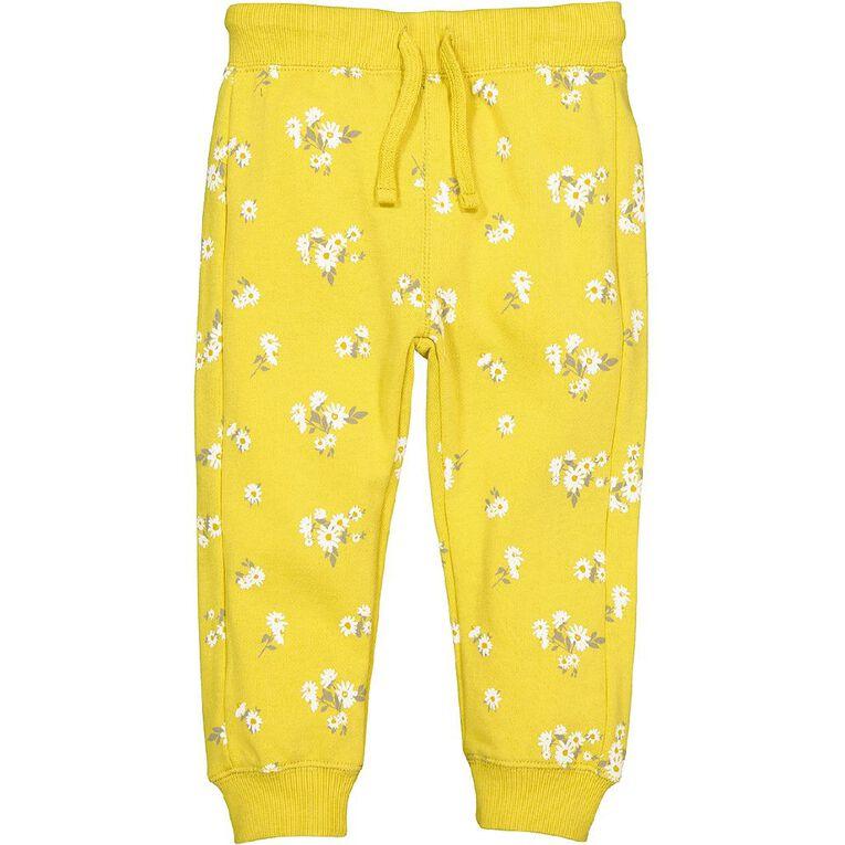 Young Original Toddler Printed Trackpants, Yellow Mid, hi-res