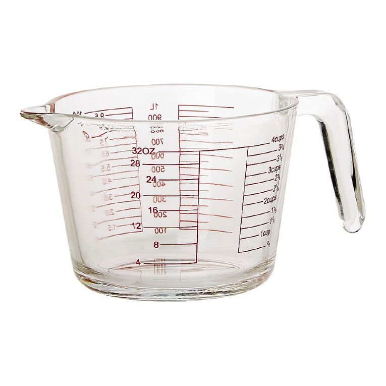 Living & Co Glass Measuring Jug 1L, , hi-res