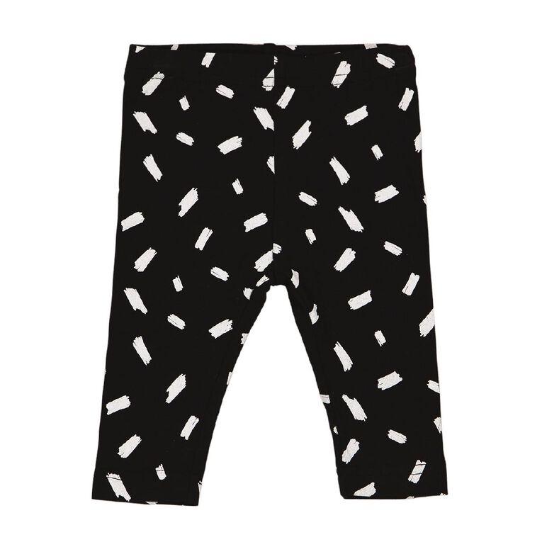 Young Original Baby Printed Leggings, Black SCRIBBLE, hi-res