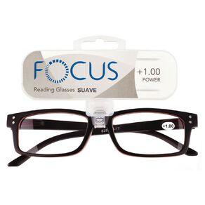 Focus Reading Glasses Men's Suave Power 1.00