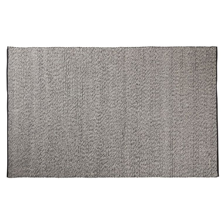 Living & Co Wool Pile Pebble Oversize Area Rug Dark Grey 200cm x 300cm, Grey, hi-res