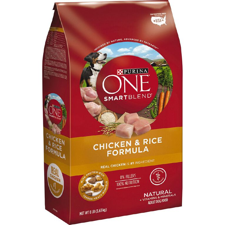 Purina ONE Dog Adult Chicken and Rice 3.63kg, , hi-res