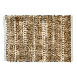 Living & Co Jute/Cotton Blend Scatter Rug Natural 60cm x 90cm