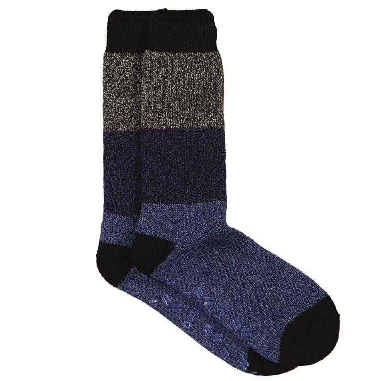 Underworks Men's Heatbods Socks 1 Pair, Blue, hi-res