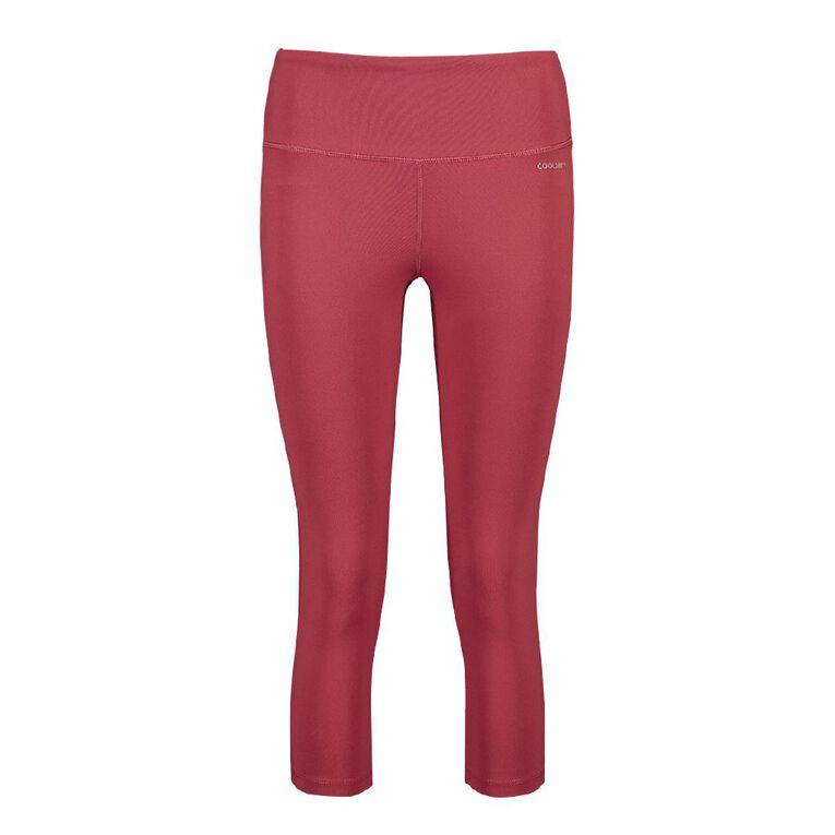 Active Intent Women's Cooldry Core Crop Leggings, Pink Dark, hi-res