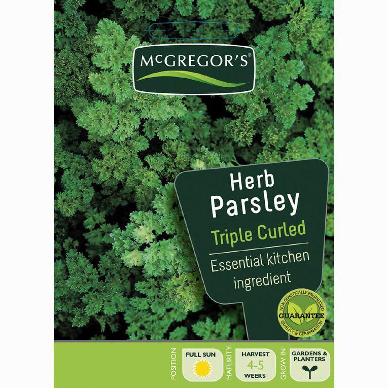 McGregor's Triple Curled Parsley Herb Vegetable Seeds, , hi-res