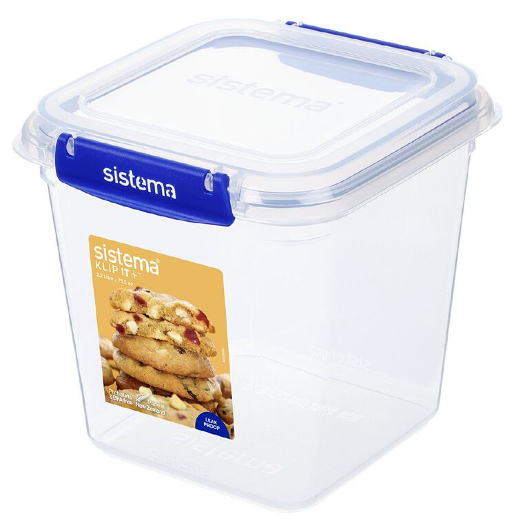Sistema Klip It Plus Square Container Assorted 2.2L, , hi-res