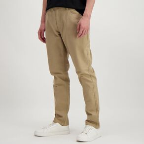 H&H Men's Straight Coloured Pants