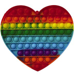 Fidget Pop-It Mega Rainbow Heart