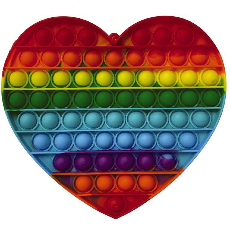 Fidget Pop-It Mega Rainbow Heart, , hi-res